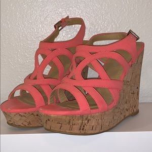 Size 8 corral wedge sandals